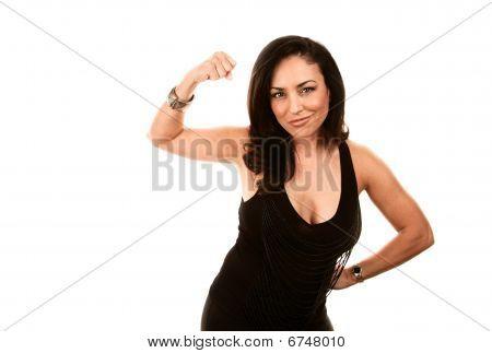 Strong Latina Woman