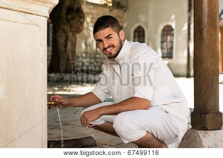 Portrait Of Young Arab Saudi Emirates Man