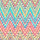 Ethnic zigzag, pattern in bright colors Aztec style. Can be used as seamless pattern or  vector background poster