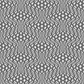 Design seamless monochrome wave pattern. Abstract distortion textured twisted background. Vector art poster