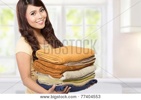 Woman With Laundry