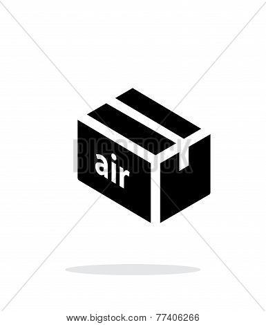 Air delivery simple icon on white background.