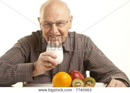 Senior Man Having A Healthy Breakfast
