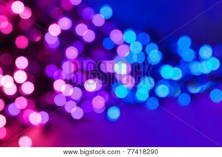 Pink, Purple And Blue Defocus