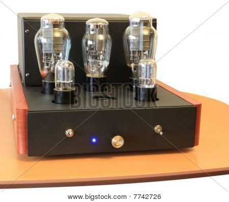 one vacuum tube amplifier on 300B triodes poster