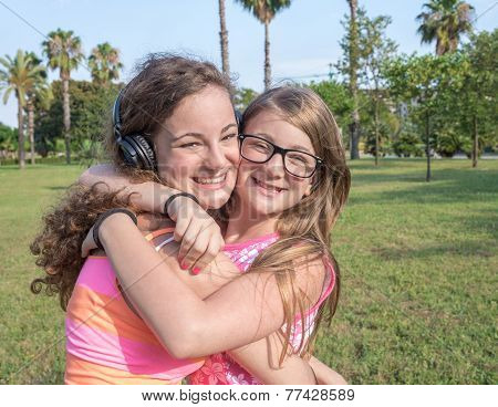 Two Girl In Meadow