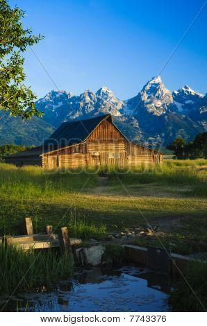 Mormon Barn In The Tetons