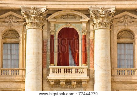 Conclave Balcony  In St. Peter's Basilica In The Vatican