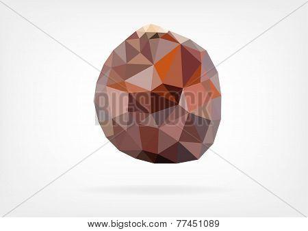 Low Poly Salak fruit