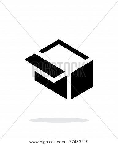 Open box simple icon on white background.