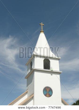 Belltower in Native American Catholic Church.