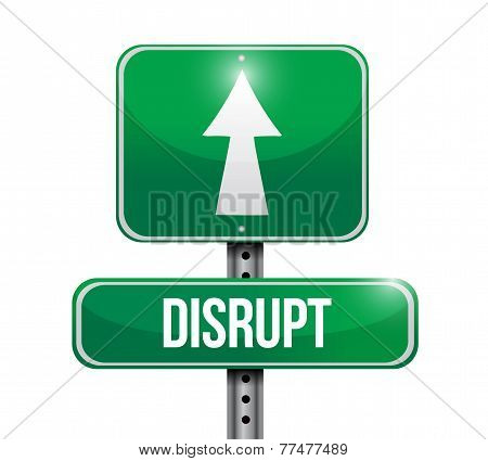 Disrupt Roadsign Illustration Design