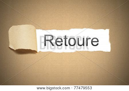 Brown Paper Torn To Reveal Retoure