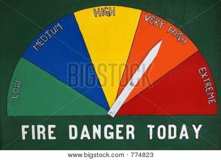 Fire Daner Sign
