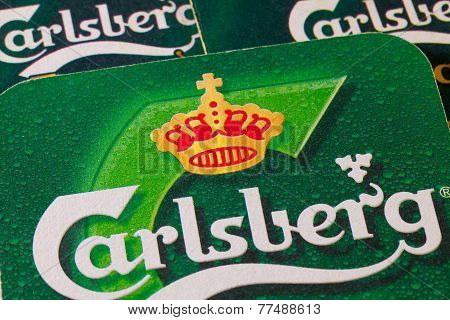 Beermats from Carlsberg beer