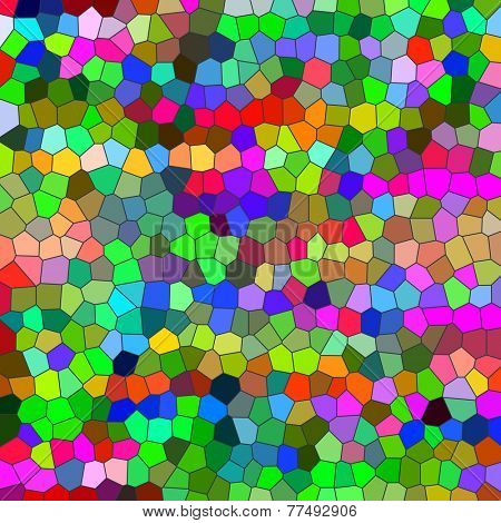 Multicolored odd shapes mosaic illustration