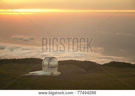 Telescope In Roque De Los Muchachos. La Palma. Spain