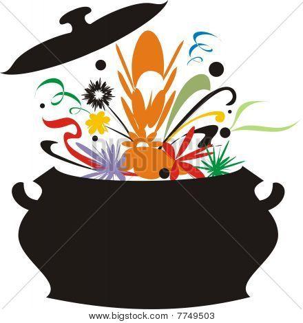Retro Style Flavor Bursting Cooking Pot Terrine