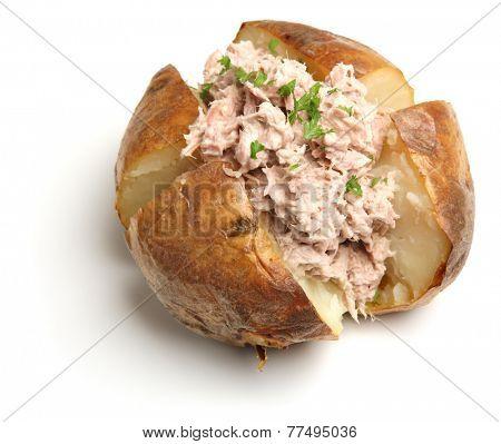 Jacket potato with tuna mayonnaise