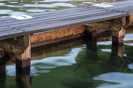 Timber path at ocean pool