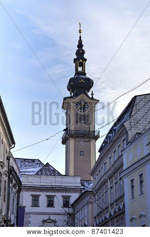 Street of old city. Linz, Austria