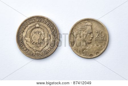 Twenty Yugoslav Dinars