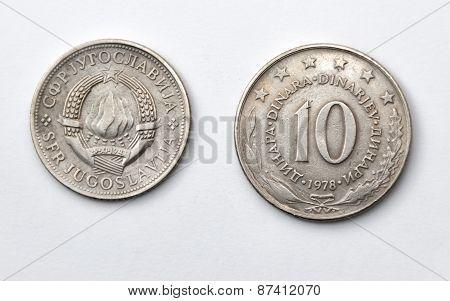 Ten Yugoslav Dinars