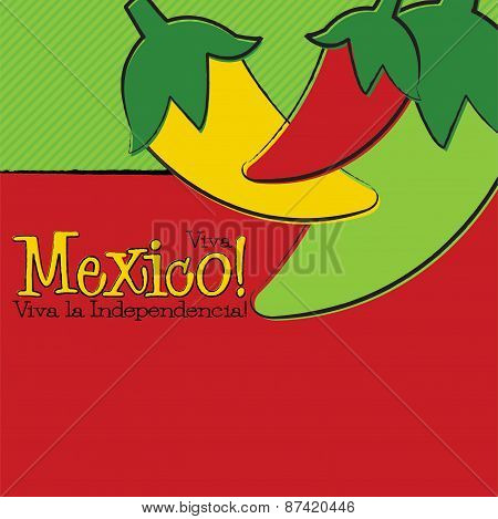 Hand Drawn Cinco De Mayo Chili Pepper In Vector Format.