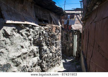 Old Urban District For Poor In Yerevan, Armenia
