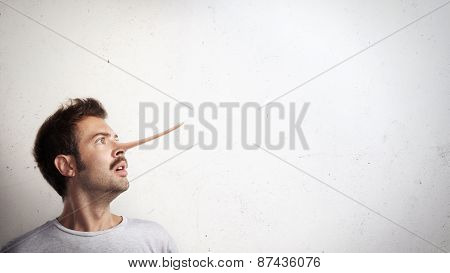 Portrait Of A Guy With Long Nose