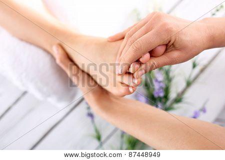 Acupressure, foot massage