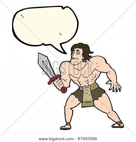 cartoon barbarian