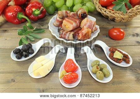 Tapas With Prunes, Figs And Apricots