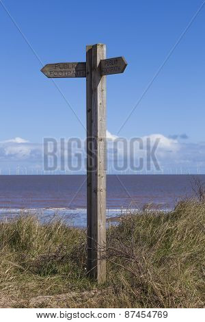 Wooden Signpost, Public Footpath, Decision Making