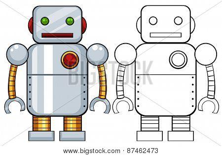 Toy robot made of metal