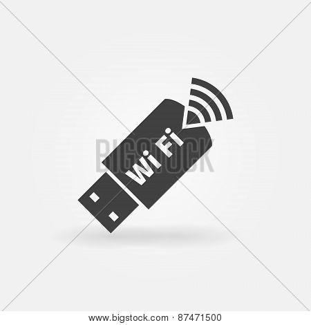 USB WiFi vector modem icon