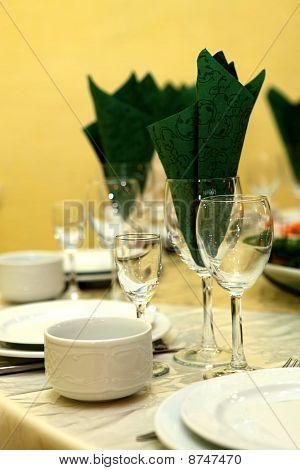 Wine glasses under wine, juice and cognac