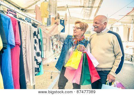 Senior Couple At Market