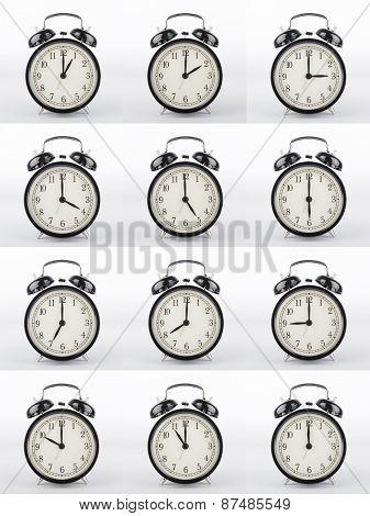 Alarm Clock Collage.