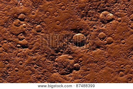 Mars  Scientific illustration - texture of far away planet  in deep space poster