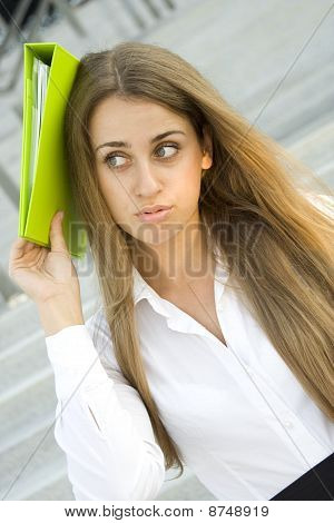 Business woman dissatisfied