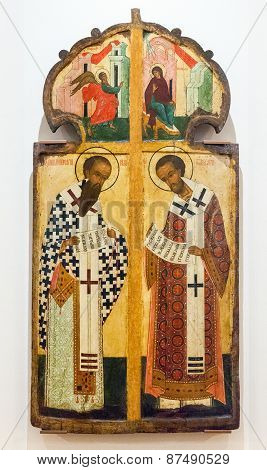 Antique Russian Orthodox Icon Of The Royal Gate