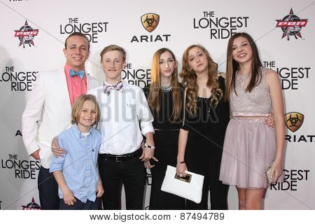 LOS ANGELES - FEB 6:  Nicholas Sparks' children and friends at the