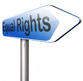 equal rights equality for all man and women  poster