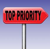 top priority important road sign arrow very high urgency info lost importance crucial information highest importance  poster