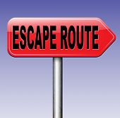 escape route avoid stress and break free running away to safety no rat race  poster