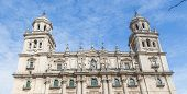 View of Catholic cathedral in Jaen Andalusia Spain poster