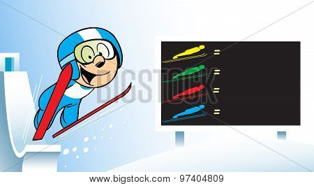 ski jumping skiing