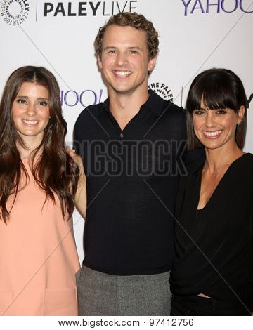 LOS ANGELES - JUL 30:  Shiri Appleby, Freddie Stroma, Constance Zimmer at the An Evening With Lifetime's