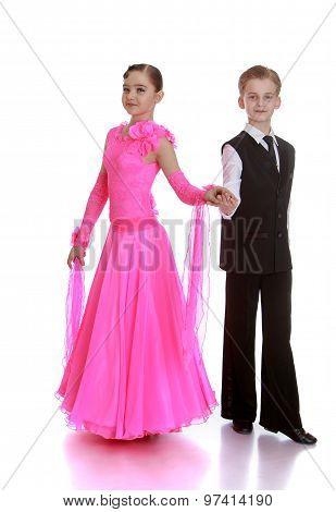 Beautiful dancing couple